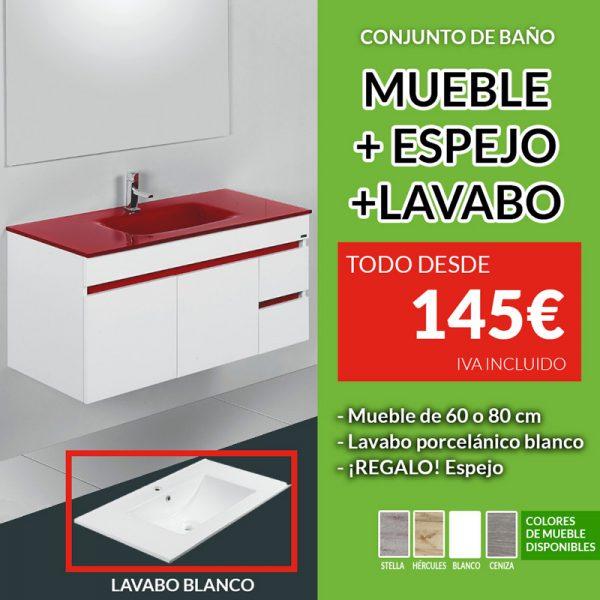 conjunto mueble de baño en oferta