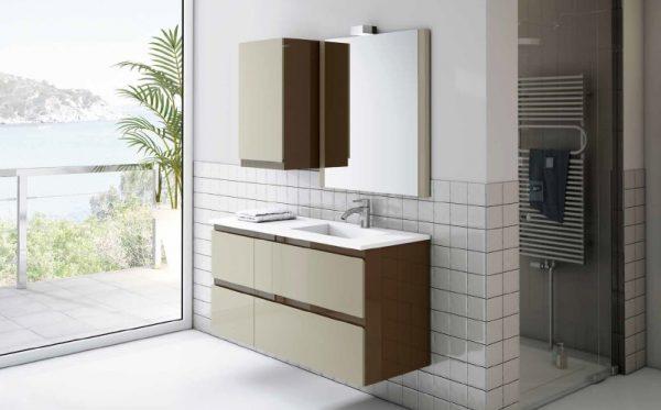 mueble de baño murano brillo