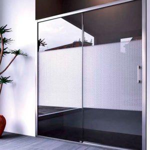 mampara de ducha frontal aluminio