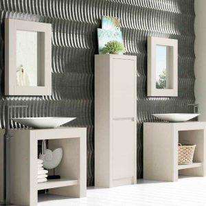 conjunto de baño madera maciza