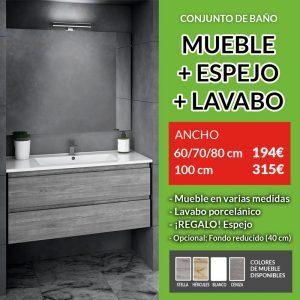 conjunto mueble de baño suspendido